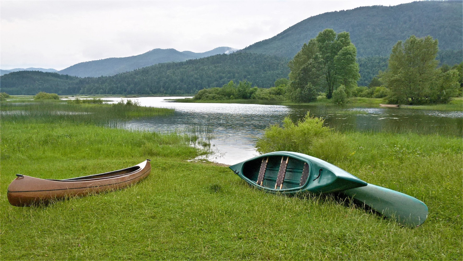 Lake Cerknica, one of the biggest intermittent lakes in Europe.